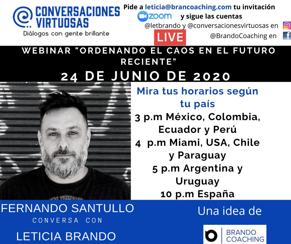 Fernando Santullo conversó el 24 de junio de 2020