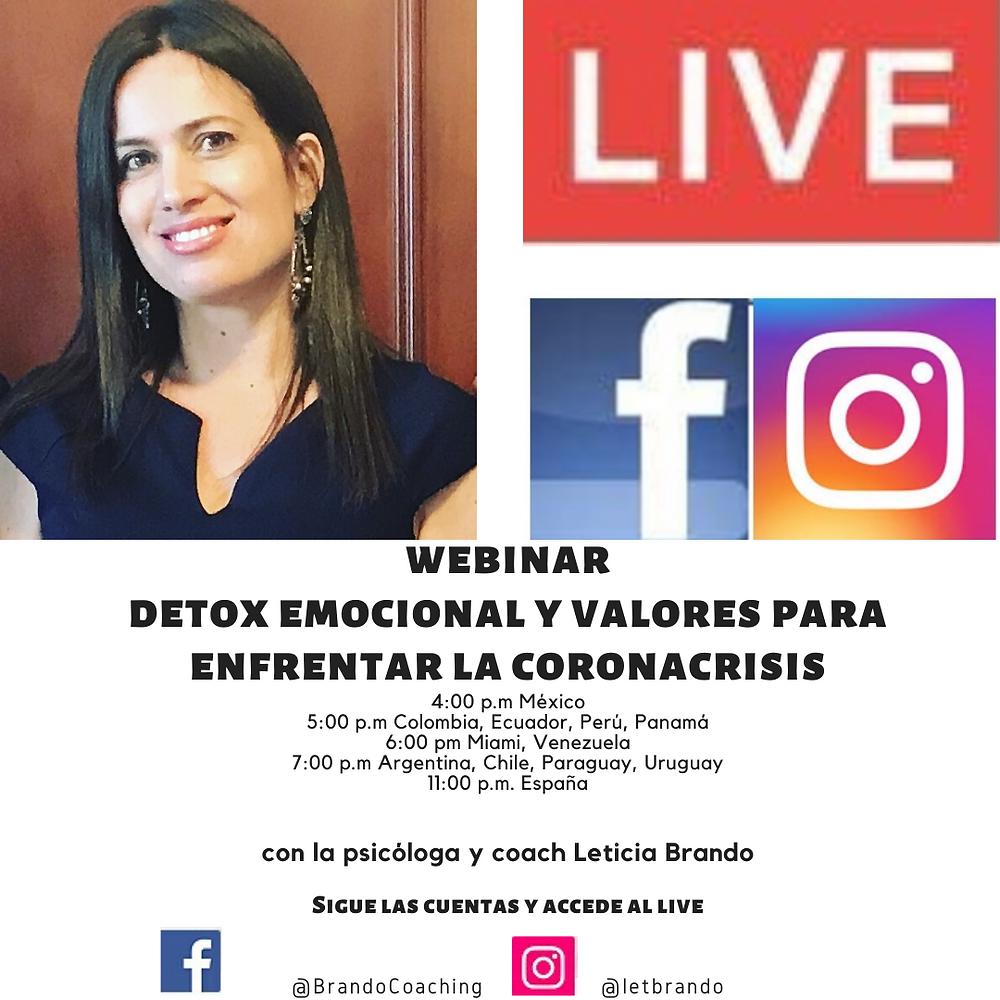 La psicóloga y coach Leticia ofrece servicios online