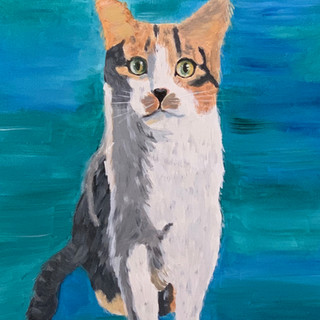 A portrait of Moose painted by Dr. Carter. (2018)
