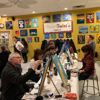 Our Painting with a Twist 'Paint Your Pet' staff party! (2018)