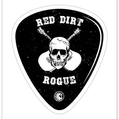 Red Dirt Rogue Guitar Pick Decal