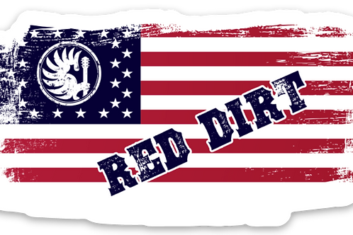 Red Dirt Flag Decal