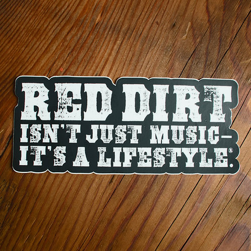 "Red Dirt Lifestyle Decal - 6"" x 2.75"""
