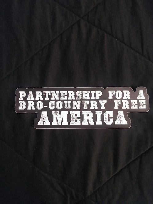 Bro-Free America Bumper Sticker