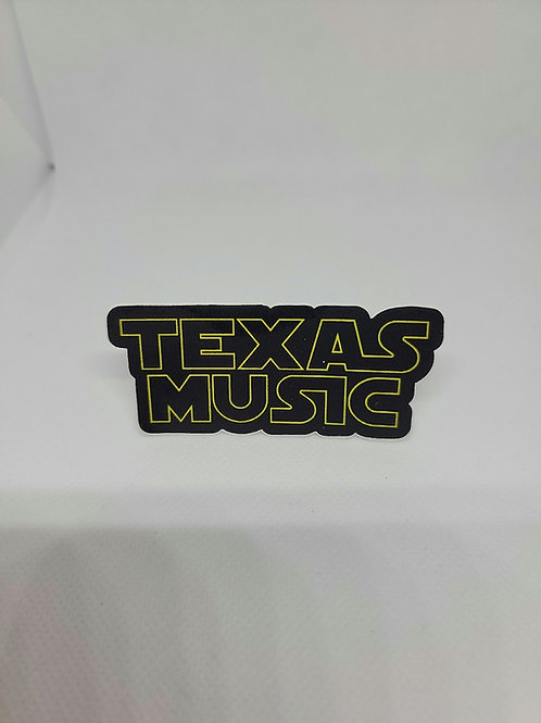 """""""Star Wars Font"""" Texas Music Decal"""