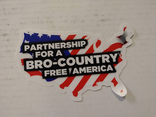 USA Bro- Country Free Decal