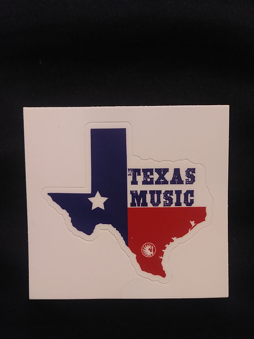 Texas Music Decal