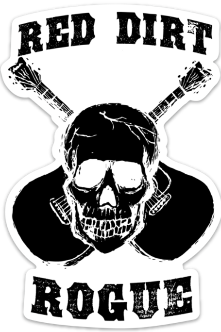Red Dirt Rogue Skull Decal