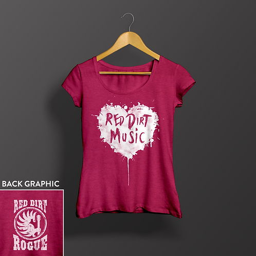 Women's Red Dirt Music Heart Shirt