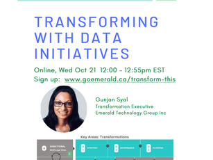 Transforming With Data Initiatives (Oct 21, 2020)