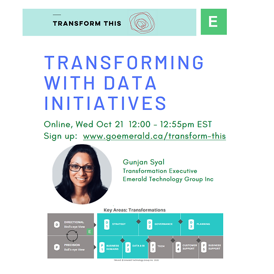 Transforming With Data Initiatives (Cost: $110 USD)