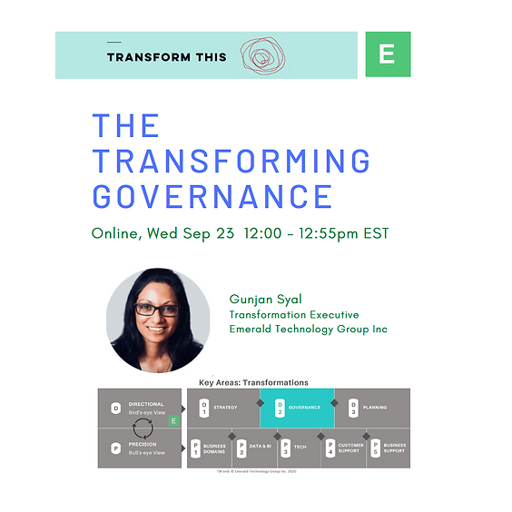 The Transforming Governance