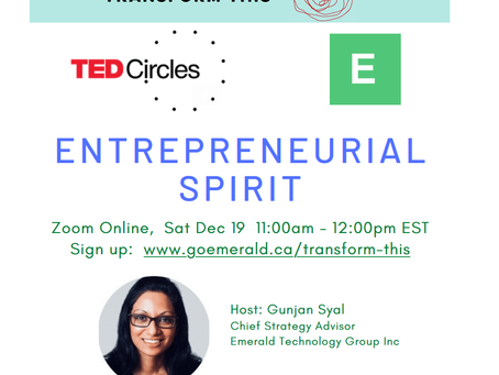 Entrepreneurial Spirit: TED Circle (Dec 19, 2020)