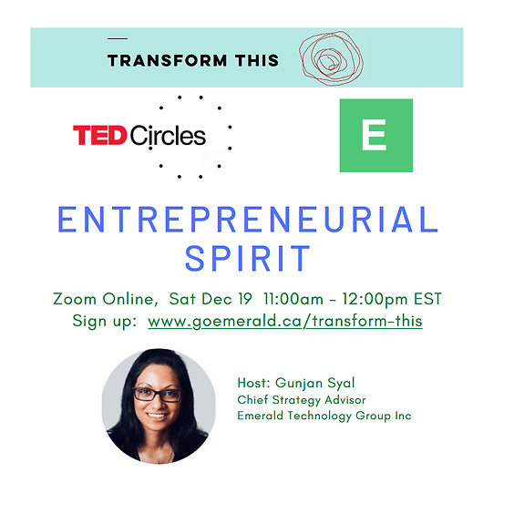 TED Circles: Entrepreneurial Spirit