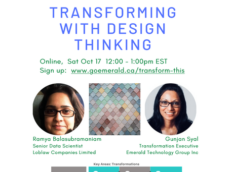 Transforming With Design Thinking - Part 1 (Oct 17, 2020)