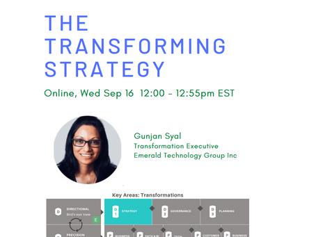 The Transforming Strategy (Sep 16, 2020)