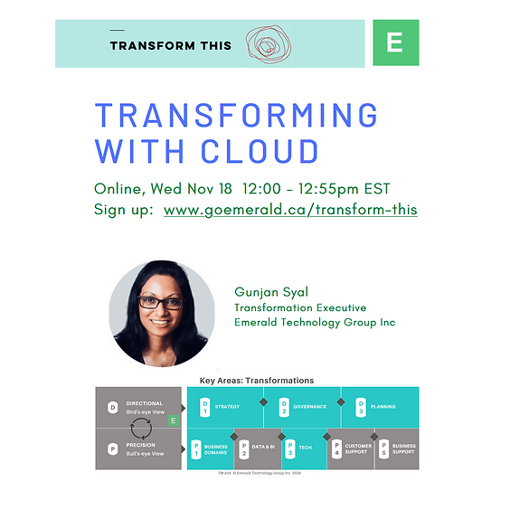 Transforming With Cloud (Cost: $110)
