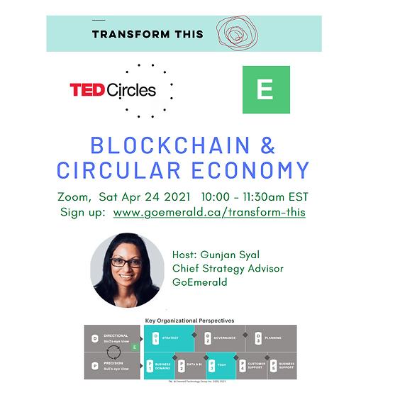 TED Circles: Blockchain & Circular Economy (Cost: Free)