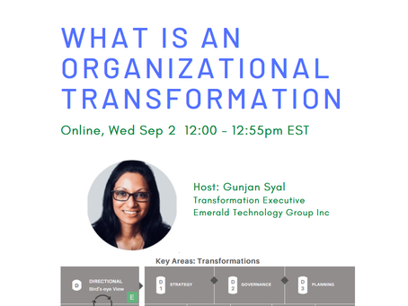 What is an Organizational Transformation? (Sep 2, 2020)
