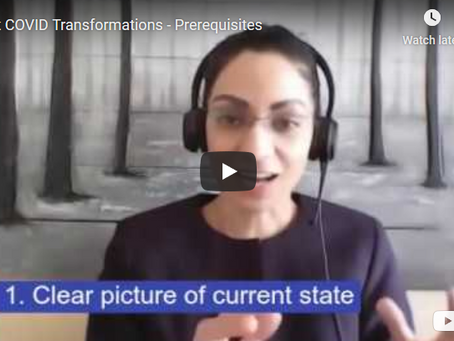 Episode-1: Prerequisites to a Transformation