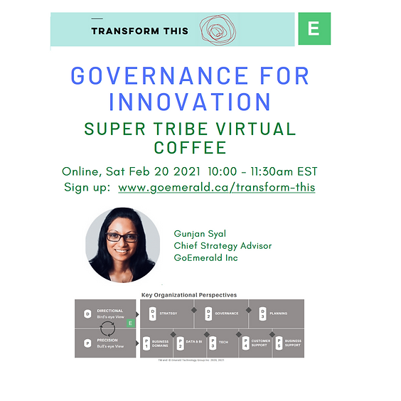 Governance For Innovation (Cost: $110 USD)