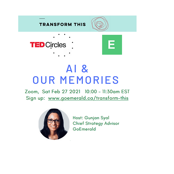 TED Circles: AI & Our Memories (Cost: Free)
