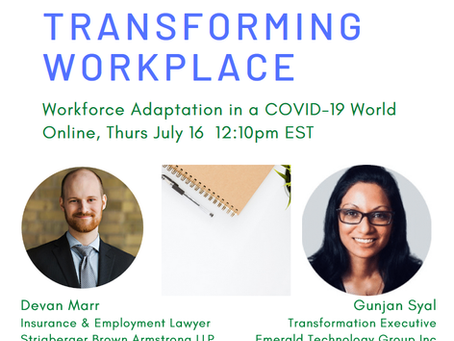 Event Replay: The Transforming Workplace (July 16, 2020)
