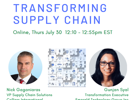 Event Replay: The Transforming Supply Chain (July 30, 2020)
