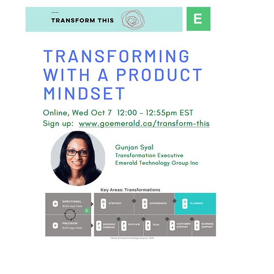 Transforming With A Product Mindset (Cost: $110 USD)