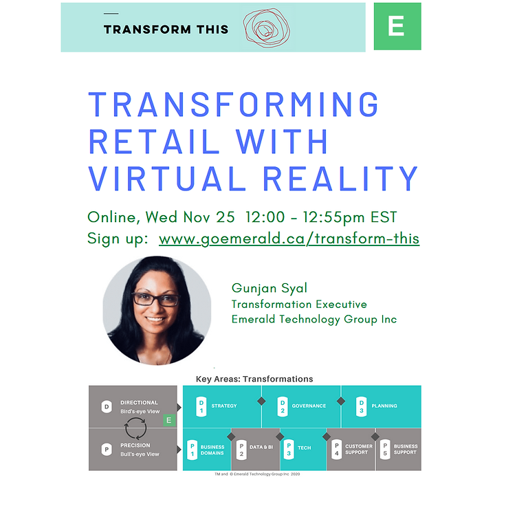Transforming Retail With Virtual Reality (Cost: $110)