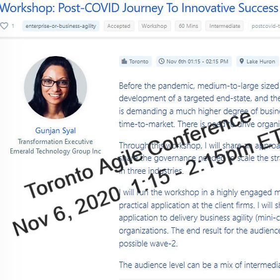 Toronto Agile Conference: Workshop