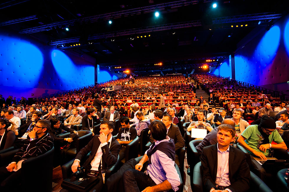 Audience waiting for presenter/speaker