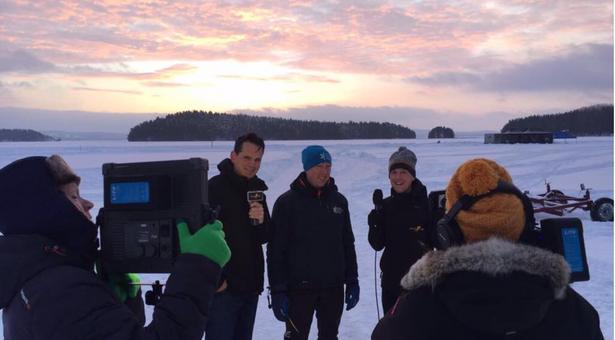 Verslag doen vanaf het Runnmeer in Zweden