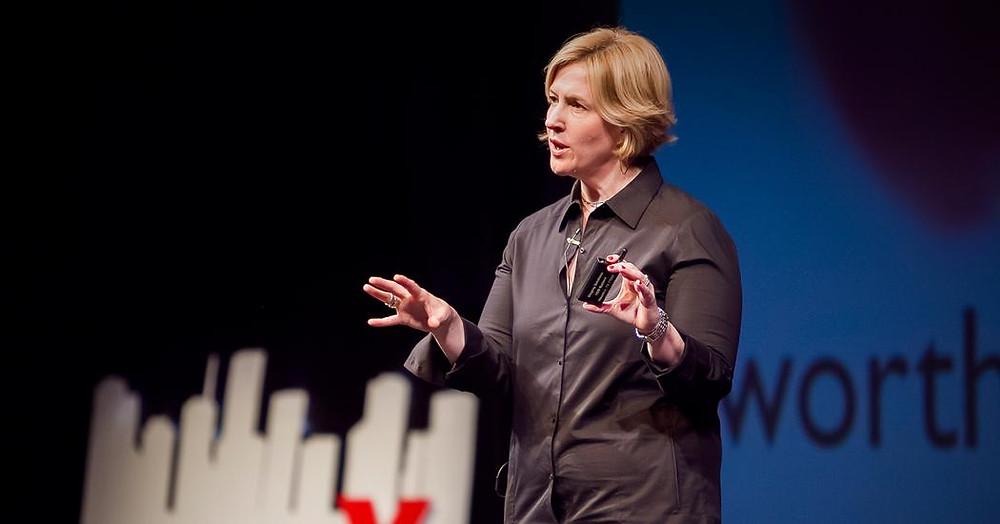 Brene Brown Kracht van Kwetsbaarheid presenteren