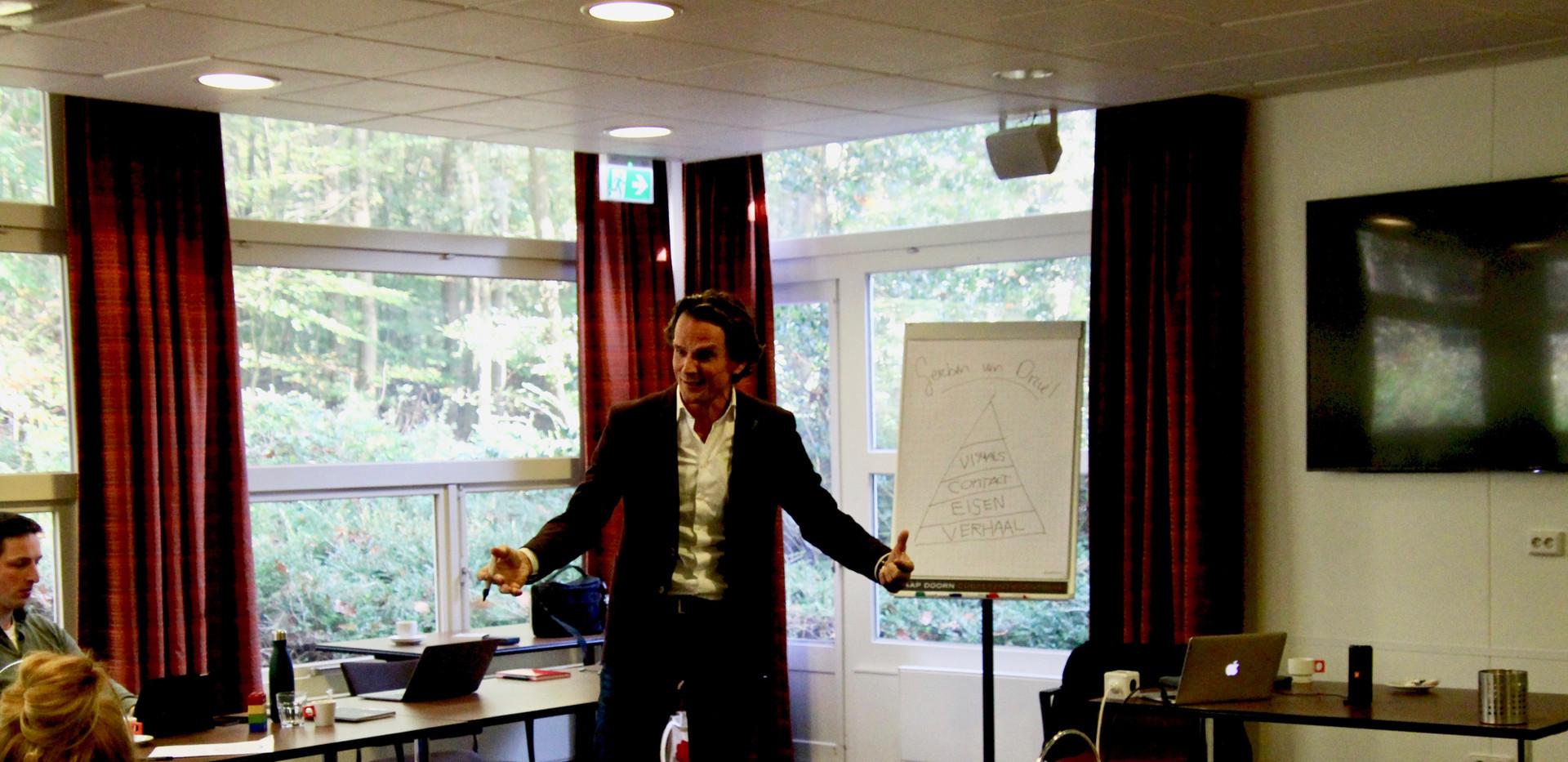 Presentatietraining aan corporate professionals