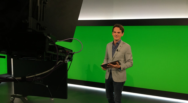 Aan het werk in RTL Nieuws studio