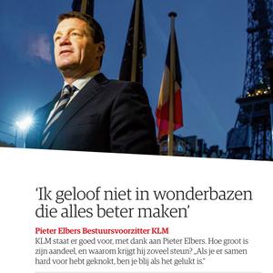 Pieter Elberse bij bekendmaking jaarcijfers Air France-KLM
