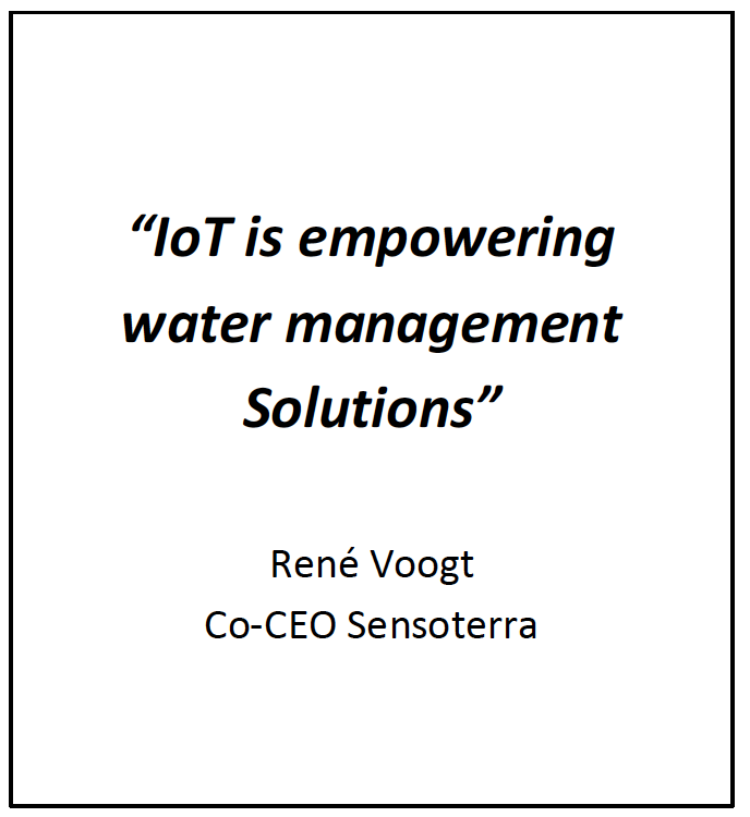 IoT is empowering water management solutions - René Voogt - Co-CEO Sensoterra