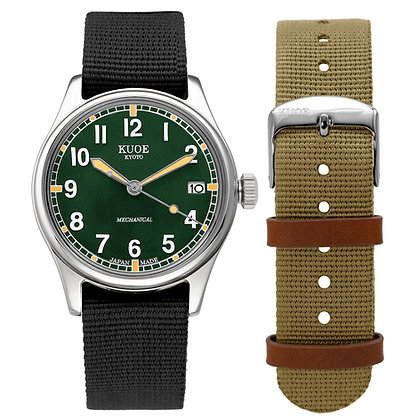 KUOE OLD SMITH 90-002 Japan Made Deep Green Dial Automatic with Hand-wound