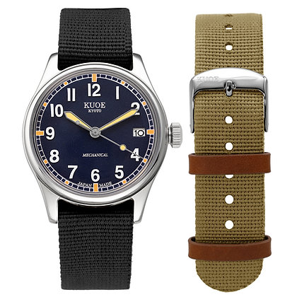 KUOE OLD SMITH 90-002 Japan Made Dark Navy Dial Automatic with Hand-wound