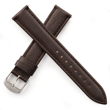 KUOE Spare Band Lizard Stamped Brown Leather Cowhide