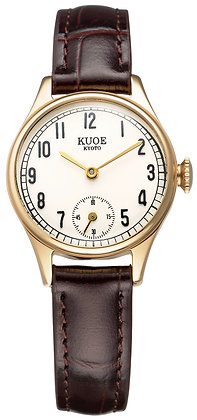 KUOE Holborn 90-003 Japan Made Gold Arabic Index Dial