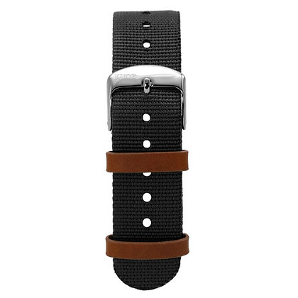 KUOE Spare Band NATO Black Band width 18mm
