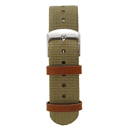 KUOE Spare Band NATO Olive Green Band width 18mm