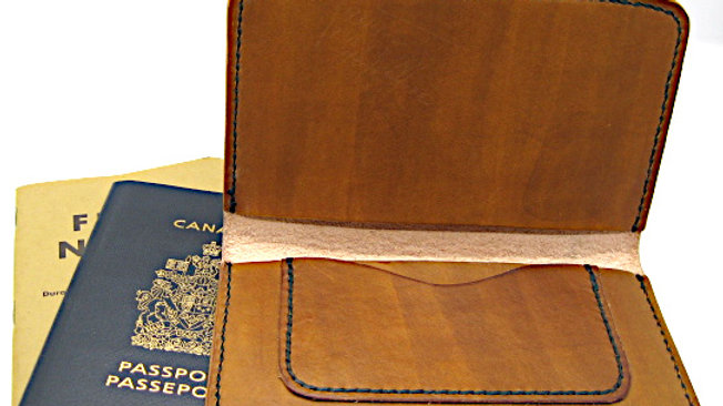 leather passport cover, field note cover with pen holder