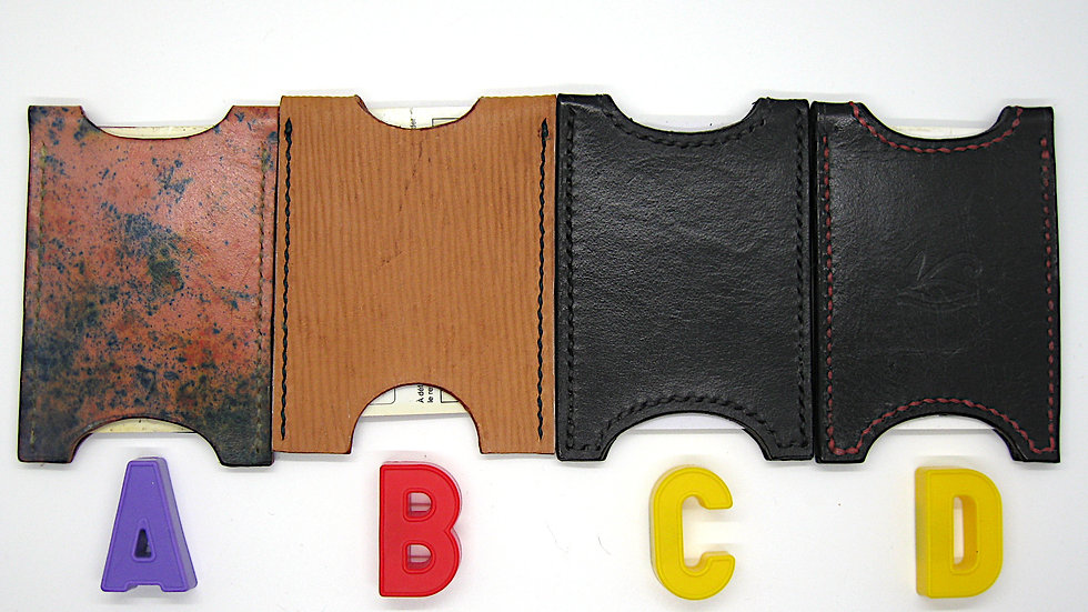 Elegant Handmade Leather Card Holder, Credit card holder, Minimalist Wallet