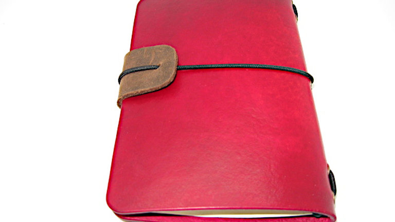 """Leather Midori Field Notebook style for (9x14cm, 3½x5½"""") Red gradient"""