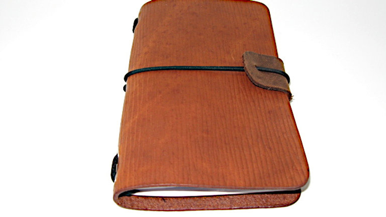 """Leather Midori Field Notebook style for (9x14cm, 3½x5½"""") wave leather"""