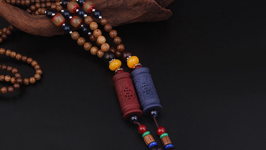 2 Colors fashion evade peace braided buddha Totem vintage necklace