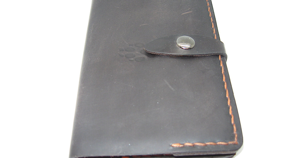 """Leather Moleskine Cover (9x14cm (3.5 x 5.5"""") Notebook) Stoned Oil"""